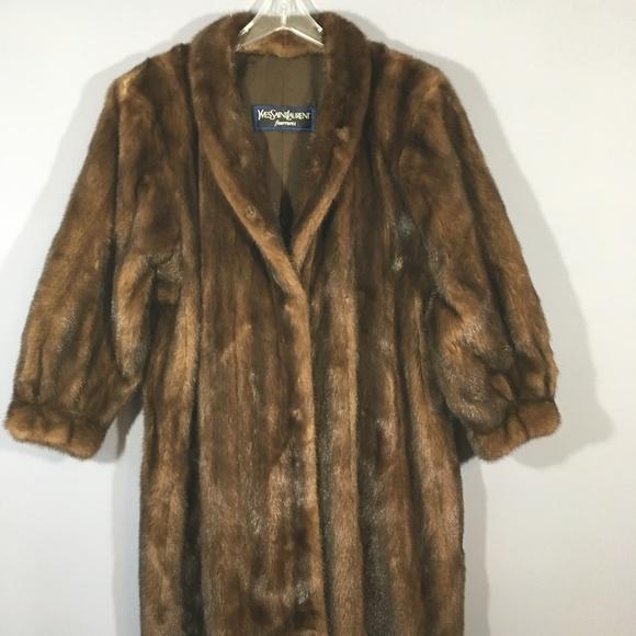 bee550b92 Yves St Laurent MINK fur coat Saga Royal